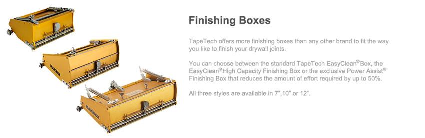 Flat Finishing Boxes